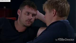 Emmerdale - Aaron & Robert Kisses (Robert & Aaron's Family Surprise Aaron & Robert) (31st July 2018)