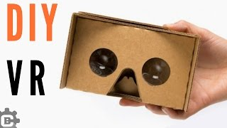 How to make vr cardboard Easy vr headset at home