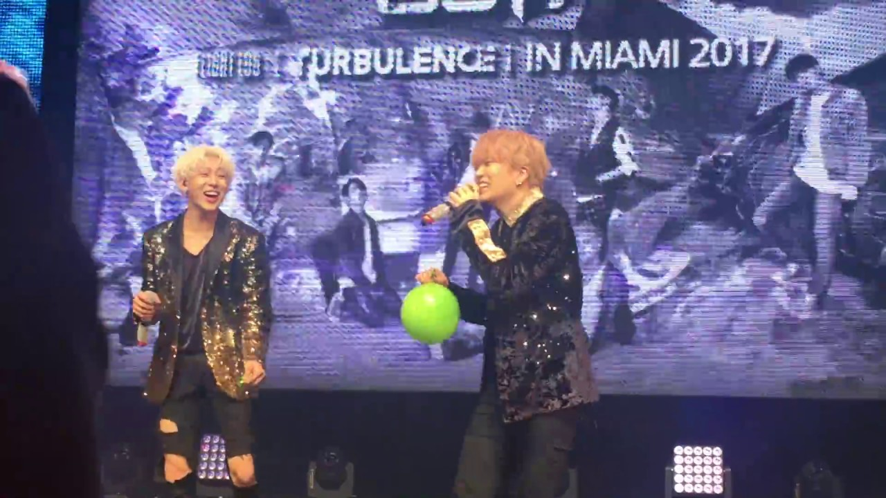 Download Got7 Turbulence in Miami 2017 - Bambam, Youngjae and Yugyeom breathe helium