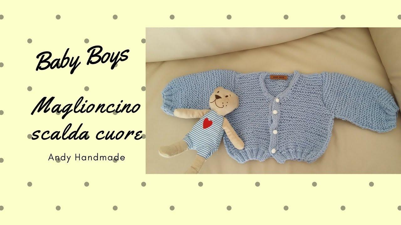 Estremamente Maglioncino Baby boys - ferri - YouTube EZ36