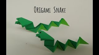 Origami Snake 혓바닥을 낼름 거리는 스네이크…