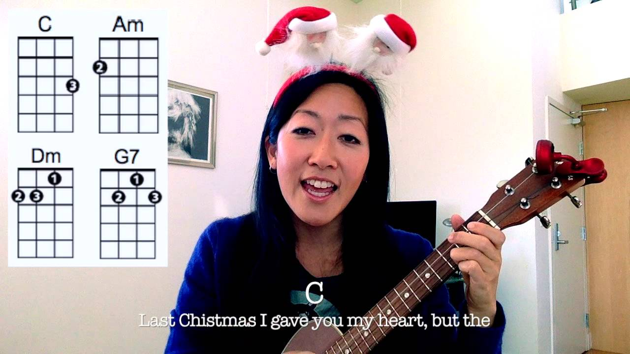 Last christmas wham easy holiday ukulele play along youtube hexwebz Choice Image