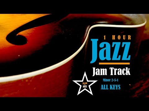 1 Hour Jazz Practice Jam Backing Track // Minor 2-5-1 // ALL KEYS
