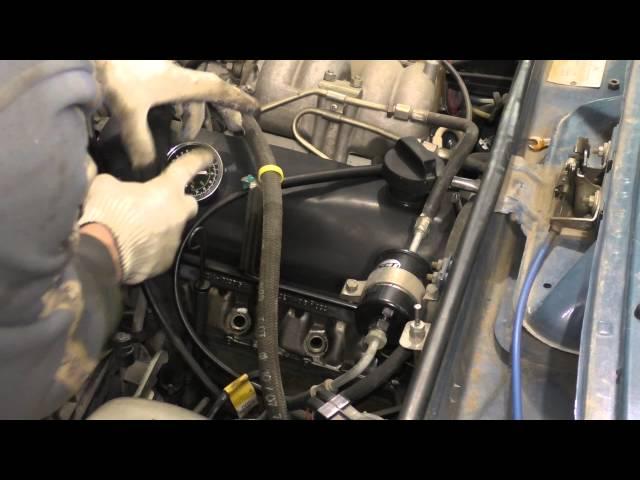 Проверка компрессии на инжекторной ВАЗ 2105, 2107 и 2104