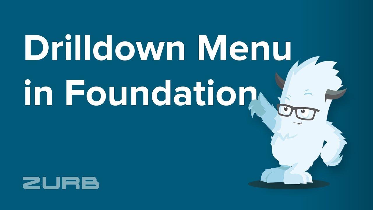 Drilldown Menu | Foundation for Sites 6 Docs