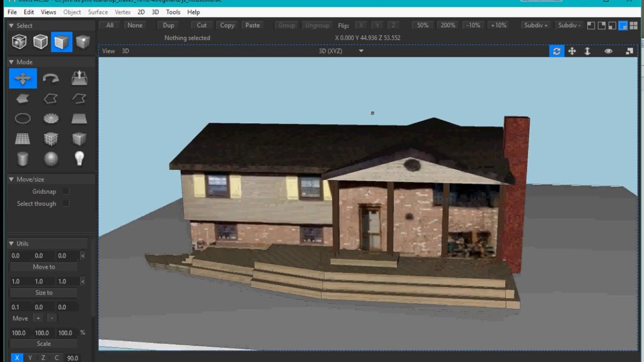 AC3D cad model of my house - Y...