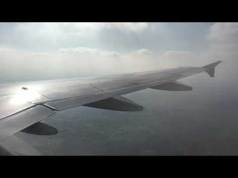 Landing At CMN Airport On An Air France Airbus A321