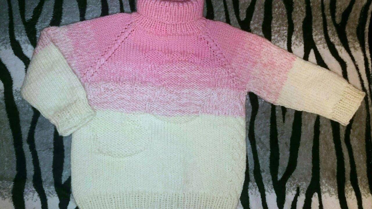 Мастерская Вязаная Жизнь: Детский свитер Реглан спицами
