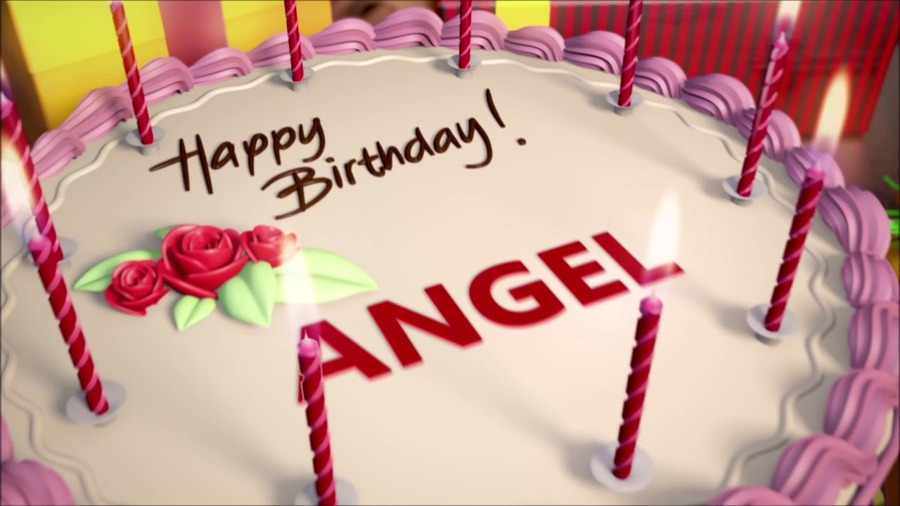 Happy Birthday Animation With Cake Candles Name And Music Sound