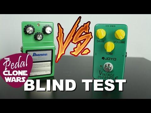 Tube Screamer TS9 VS Joyo Vintage Overdrive - Blind Test - Pedal Clone Wars Ep.1