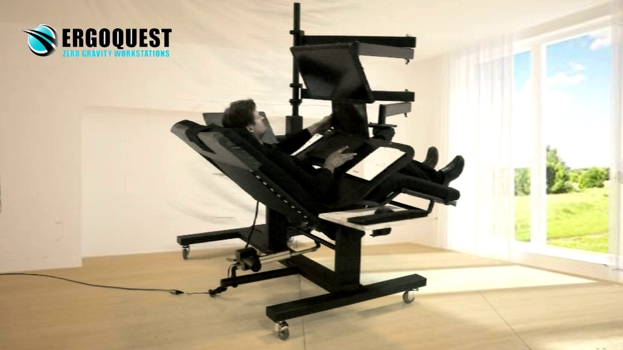Ergoquest zero gravity chairs and workstations - Ergoquest Wide Back Zero Gravity Workstation