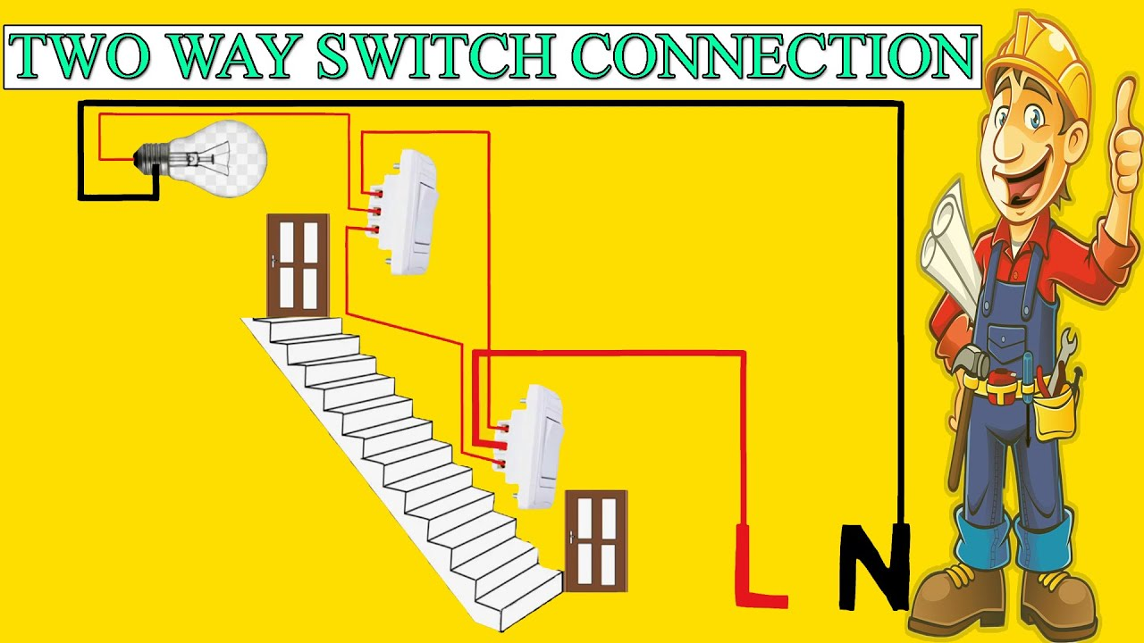 Two Way Switch Connection With Light Electric Animation Video