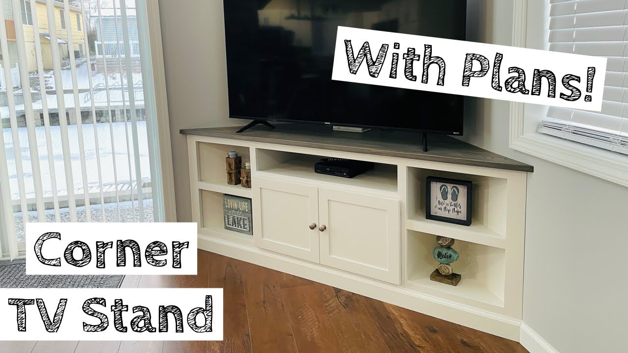 building a corner tv stand built in plans available