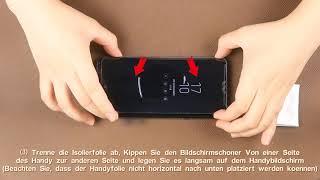AsBellt-DE 3D Glas (Flüssigkeit) Schutzfolie mit Rückenfolie Installationsvideo