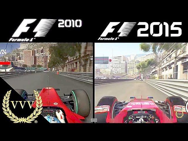 F1 2010 Vs F1 2015 Monaco