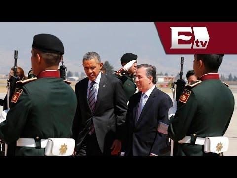 Obama llega a Toluca para Cumbre de Líderes del América del Norte/ Titulares de la tarde