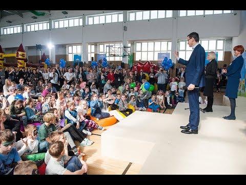 Mateusz Morawiecki podczas obchodów #2lata500plus w gminie Radymno