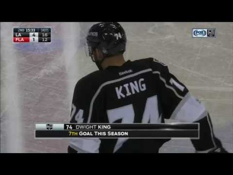Dwight King Scores on Roberto Luongo | Kings Lead Panthers 5-1