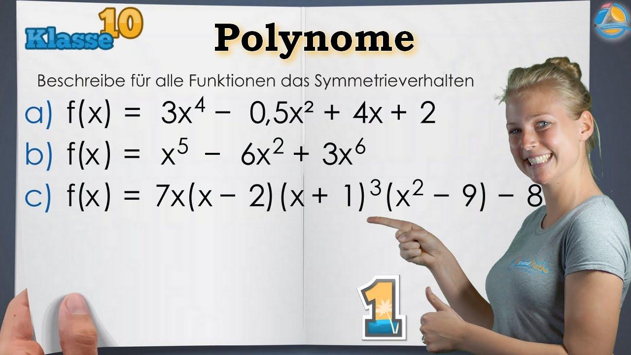 Polynome ganzrationaler Funktionen    Klasse 10 ☆ Übung 1 - YouTube