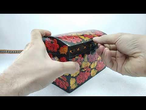 New Ukrainian Handmade painting Wooden Jewelry Box
