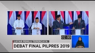 Debat Final Pilpres 2019 Soal Keuangan & Investasi