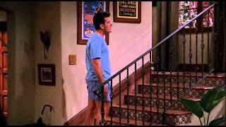 Alan Smiling On Charlie's Mr Pinky (Two And A Half Men)
