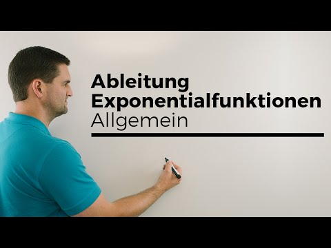 Exponentialfunktionen allgemein ableiten, y=a^x   Mathe by Daniel Jung
