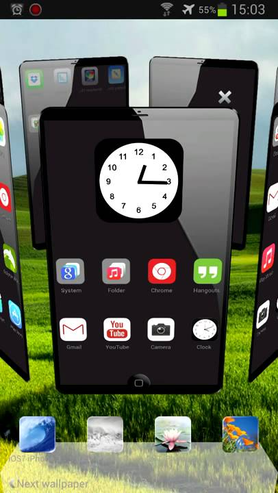 iphone launcher theme next launcher theme ios7 iphone 3d hd 11981