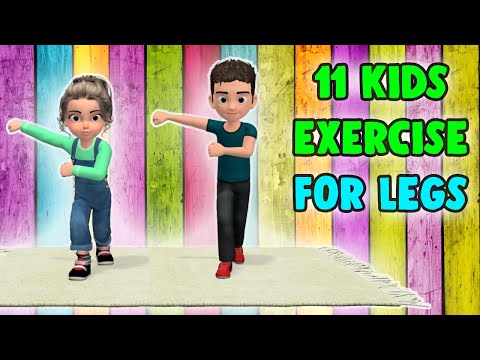 11 Fun Kids Exercises For Legs - Children Workout At Home