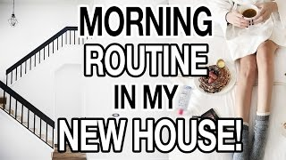 MORNING ROUTINE IN MY NEW HOUSE + EASY HEALTHY BREAKFAST RECIPE!