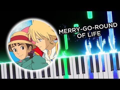 Merry Go Round Life - Howl's Moving Castle (Joe Hisaishi) - Piano tutorial thumbnail