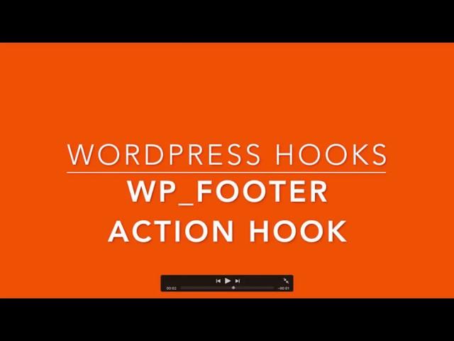 WordPress Hooks wp footer Part -27 Example