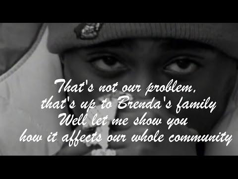 2Pac - Brenda's Got A Baby (lyrics on screen)