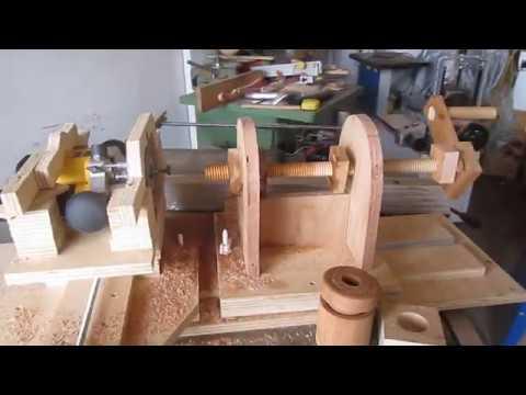 Cheap Home made Wood threading.Cheap