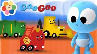 Aprende con Googoo!   Aprendiendo Los Camiones para Niños   Dibujos Animados de BabyFirst