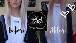 UNBOXING LONGEST HAIR ON THE MARKET: ZALA HAIR EXTENSIONS