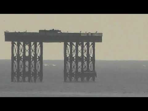 good offshore platforms & Sizewell power station near RSPB Minsmere 30jan18 217p 4k