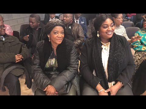 Belgique :Justine Kasa-Vubu face aux congolais à Verviers