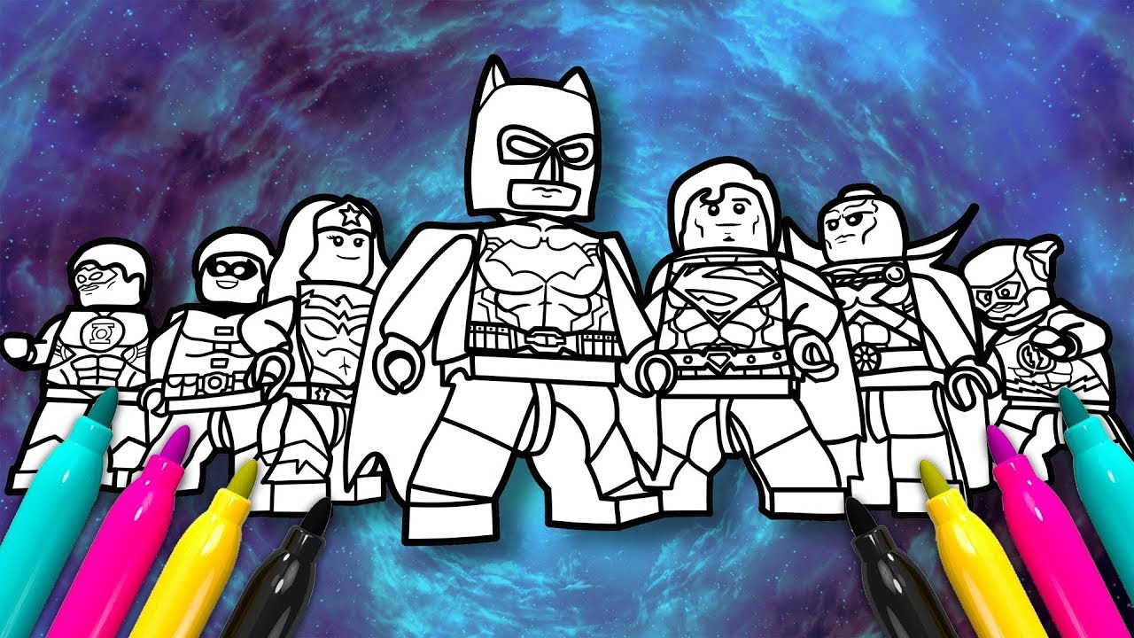 Lego Justice League Coloring Page Dc Comics Superheroes