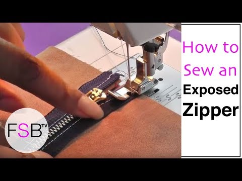 Sewing an Exposed Zipper from YouTube · Duration:  7 minutes 15 seconds