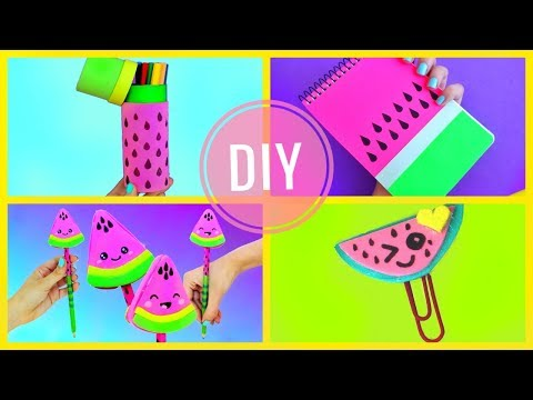 DIY WATERMELON SCHOOL SUPPLIES for Back to School | Easy & Cute CRAFTS