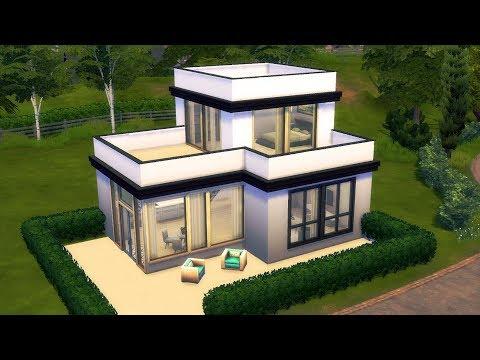 The Sims 4 - Modern Starter Home | Speed Build | Modern Starter House Building thumbnail