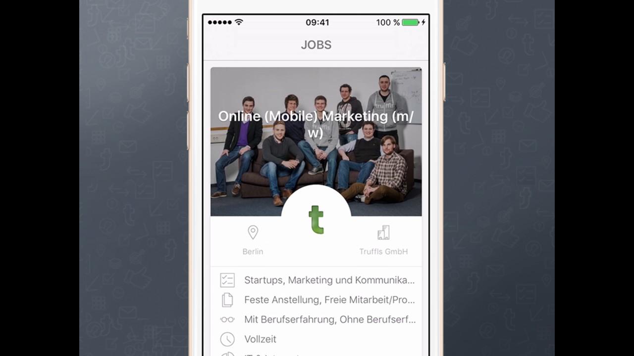Truffls Job App Bewerbung Ohne Anschreiben