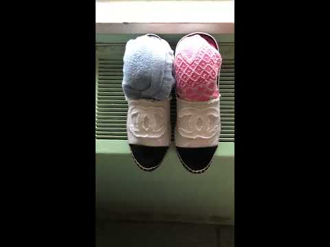 Easy Cleaning Restore Stained and Dirty Chanel Canvas Linen Espadrilles DIY