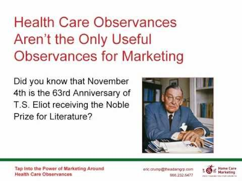Tap Into the Power of Marketing Around Health Care Observances