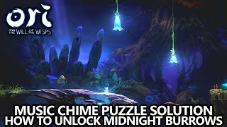 Ori and the Will of the Wisps - Music Chime Puzzle - How to Open the Midnight Burrows & Ability Tree
