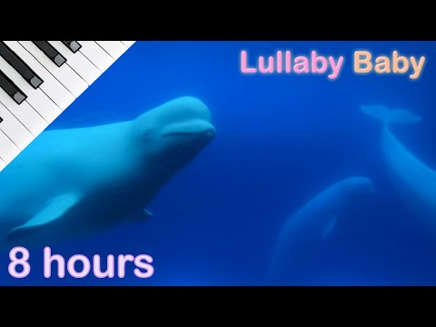 ☆ 8 HOURS ☆ Relaxing PIANO & UNDERWATER Sounds ♫ Lullaby Baby Sleep Music Instrumental