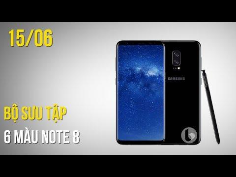 Galaxy Note 8 lộ diện 6 màu sắc cực đẹp, bộ ba iPhone 7s, 7s Plus và iPhone 8 xuất hiện