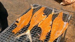 Crispy Fried Whole Fish Bone Recipe | World First Barbeque Fish Bone Fry | BBQ FISH BONE MAKING
