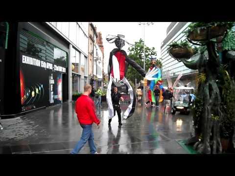Mark in parade as tallman with Blacke group .MP4